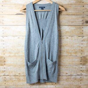 Banana Republic Wool/cotton Zip Vest